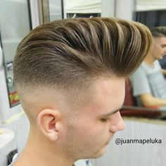 Fade Styles, Short Hair Styles, Cut And Style, Men's Style, Different Hair Cut, Pompadour Hairstyle, Rockabilly Hair, Men's Hairstyles, Psychobilly