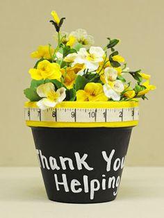 """Thank You For Helping Me Grow"" Flower Pot #Teacher Gift"