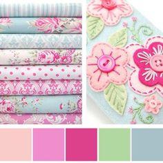 Color palette - feminine girl room without overloading on pink Scheme Color, Colour Pallette, Colour Schemes, Color Patterns, Color Combinations, Design Seeds, Colour Board, World Of Color, Grafik Design