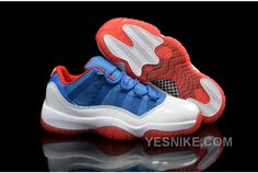 """http://www.yesnike.com/big-discount-66-off-air-jordans-11-low-knicks-white-blue-red-shoes-for-sale-nwckj.html BIG DISCOUNT! 66% OFF! AIR JORDANS 11 LOW """"KNICKS"""" WHITE BLUE RED SHOES FOR SALE NWCKJ Only $96.00 , Free Shipping!"""