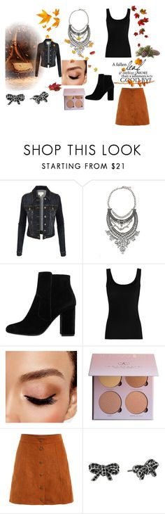 """""""hubler"""" by selmetina ❤ liked on Polyvore featuring LE3NO, MANGO, Twenty, Avon, Marc Jacobs, shoes, sandals and necklace"""