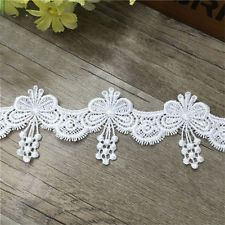 Lace Embroidered Trim Butterfly Applique Wedding Dress Clothes Sewing Craft DIY