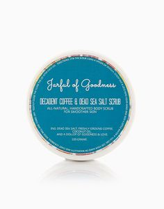 Decadent Coffee & Dead Sea Salt Scrub (100g) by Jarful of Goodness |100g/P200 BeautyMNL