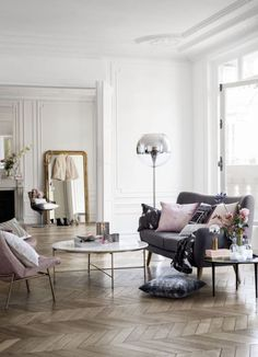 Living room: H&M Home new Spring Summer collection via purodeco   Stue: H&M Home vår og sommer kolleksjon 2014