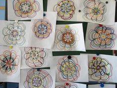 Exercices pour travailler les ponts en graphisme autour des fleurs