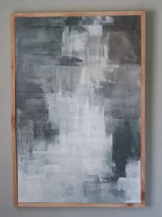 Midnight Sun This is a beautiful and stunning abstract painting. The color palette consists of white, greys, and a hint of green, blend