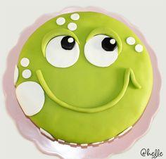 Grodtårta / Frog cake - made by Helle