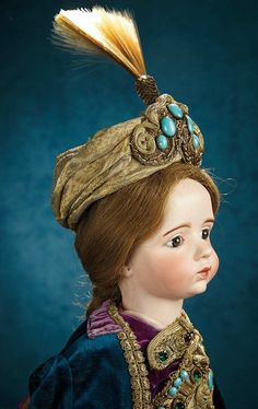 """French Bisque Art Character Doll by Albert Marque, #7 from the Series 22"""" (56 cm.) the doll was acquired directly from the Margaine-Lacroix Paris exhibition in 1915, and many years later was presented to that owner's son and daughter-in-law who founded the Museum of Old Dolls and Toys in Winter Haven, Florida. There the doll stood center-stage for decades. When the Museum closed its door 31 years ago, in 1984, the doll was acquired by its present Forever Young - Marquis Antique Doll…"""