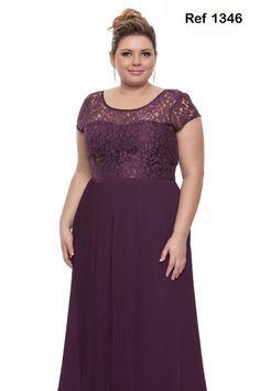 vestido de festa plus size roxo - Pesquisa Google
