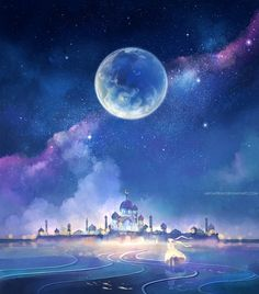 the moon kingdom by megatruh - Landscapes & Scenery Digital Art by Niken Anindita  <3 <3