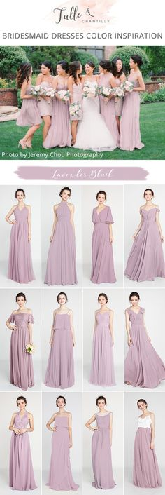 lavender blush bridesmaid dresses for 2018 trends #2018dresses #bridesmaiddresses #bridesmaids #blushpink