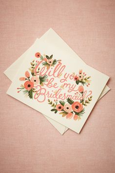 Blooming Bridesmaid Card from @BHLDN