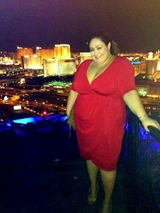 Kiyonna's Wholesale Manager and Real Curves Cutie, Vannessa wore her Harlow Faux Wrap Dress on a night out on the town in Vegas. Doesn't she look sinfully sexy? ;)  #KiyonnaPlusYou #Kiyonna #PlusSize
