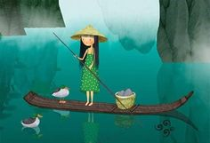Lake on Behance Cute Images, Children's Book Illustration, Community Art, Art Museum, Illustrators, Little Girls, Whimsical, Art Gallery, Painting
