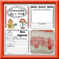 Communities Big & Small Unit Plan: This is a best selling unit plan on Teachers Pay Teachers. Only $3.50 and filled with great activities for various community helpers and other community topics.