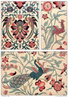 Persian art: printed fabric.    From Galería del arte decorativo (Gallery of Decorative Art) vol. 2, collective work, Barcelona, 1890.