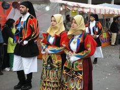 Sardinia - Women wear a piece almost the same pattern of an islamic hijab