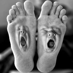 Really Tired Feet.So Tired They're Yawning!