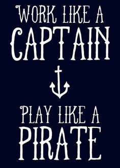 And drink rum!!