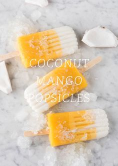 coconut mango popsicles | designlovefest.