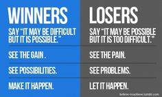 Simple differences between winners and losers.