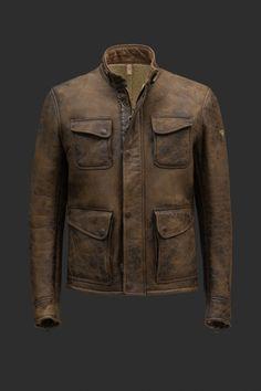 3/4 shearling jacket for men | Fulham Jacket antique cuero | Matchless London