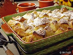 French Toast Souffle THIS IS SO WONDERFUL TO SERVE FOR YOUR FAMILY OR GUEST. IT WILL WARM YOUR HEART TO MAKE THIS. SUCH A DELICIOUS DISH. I WOULD ADD AROUND 1 TABLESPOON OF CINNAMON TO THE RECIPE AND EVEN IF YOU WISH YOU COULD SPRINKLE CHOCOLATE CHIP TO THE WARM DISH WHEN YOU TAKE IT OUT OF THE OVEN AND WHEN IT WARMS A BIT, SPRINKLE SOME POWERED SUGAR ON TOP BEFORE SERVING. PUT THE COFFEE OR TEA ON AND HAVE THIS. YOU WILL LOVE IT...ENJOY