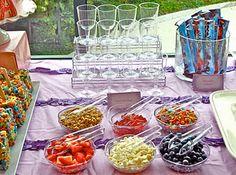 Parfait bar - I like the idea of a wedding brunch rather than a dinner, I think...