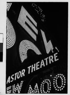 "Walker Evans - Detail of Neon Sign for ""New Moon"", Times Square, New York City. History Of Photography, Dark Photography, Black And White Photography, Classic Photography, Nocturne, Walker Evans, Street Signs, Museum Collection, Art Object"