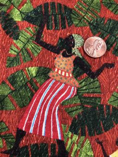 Joyful Days Julia Cairns for Quilting Treasures BTY African Huts Sun Green