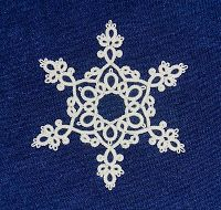 """I wrote this pattern for """"Le Flocon Frivole"""" back in 2011 (my how time flies! Lace Patterns, Crochet Patterns, Needle Tatting Patterns, Tatting Tutorial, Crochet Snowflakes, Tatting Lace, Lace Making, Bobbin Lace, Irish Crochet"""