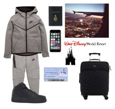 """""""Ashton on his way to Florida/Disney"""" by arianaabner ❤ liked on Polyvore featuring NIKE, Off-White, Disney, Mark Cross, Kate Spade, men's fashion and menswear"""