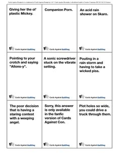 Cards against #humanity #doctorwho