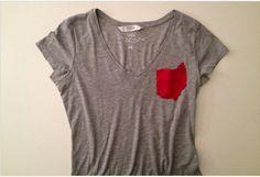 Ohio Pocket V-neck T Shirts Red