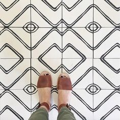 Cute tiles, cute shoes, can't lose.  photo by @amberinteriors via @tiletuesday in #dsfloors