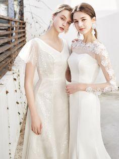 Girls Dresses, Formal Dresses, Wedding Dresses, Elegant Dresses For Women, Pre Wedding Photoshoot, Dress Suits, White Outfits, Korean Fashion, One Shoulder Wedding Dress