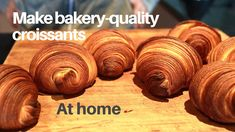 Make bakery-quality croissants at home using plain flour - YouTube Homemade Croissants, Croissant Dough, Bread Rolls, The Creator, Bakery, Place Card Holders, How To Make, Youtube, Beautiful