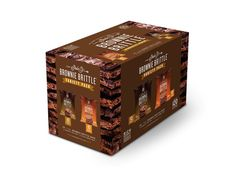 Brownie Brittle Chocolate Chip and Salted Caramel mix of 20 of our 1-ounce 120-calorie-pack bags available at http://shop.browniebrittle.com
