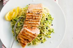 Dress skinny pasta with zucchini and zesty lemon, then top with ...