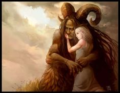 I interpret this to be two lovers one a giant or a Jotun and one a Æsir or a god like being