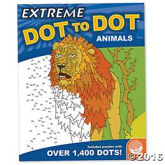 Extreme Dot to Dot: Animals  Exercise your left and right brain at the same time with these complex dot to dot puzzles. Intricate, challenging and wildly rewarding to finish, Extreme Dot to Dot: Animals puzzles range from 300 to over 1,400 dots. Some puzzles even cover a two-page spread! #MindWareToys #FreePrintable #DotToDot