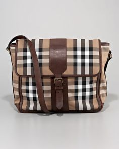 Check Messenger Bag, Small by Burberry at Neiman Marcus.