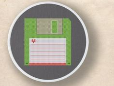 Floppy Disk Cross Stitch Pattern by andwabisabi on Etsy.