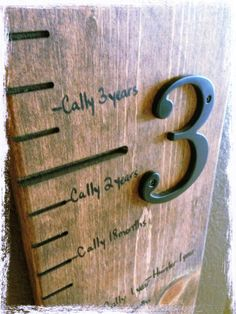 Love the detail of the lines and attached numbers-need to make this before Landon's first birthday