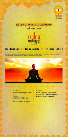 Standee - for Rudra Mahayog - ( Rudra Universe is a religious organization. )