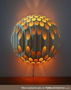 Lamp made from pvc pipe