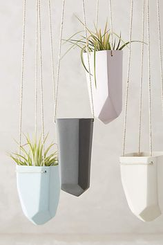 Crystal-Cut Hanging Planter - anthropologie.com (I think these would look cool in the sunroom?)