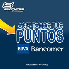 En #Skechers aceptan tus puntos Bancomer, ¿qué esperas? Ven a visitar la tienda en #Antea.