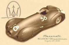 1939 Maserati Tipo 4CL 1500 Streamliner, Tripoli Grand Prix, 1939