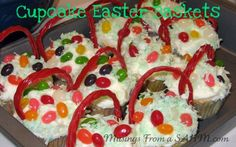 Cupcake Easter Baskets recipe - perfect for kids!